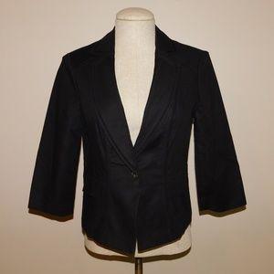WHBM Black 3/4-Length Sleeve Blazer